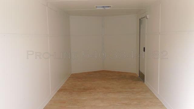 7x14 Enclosed V Nose Trailer White Walls