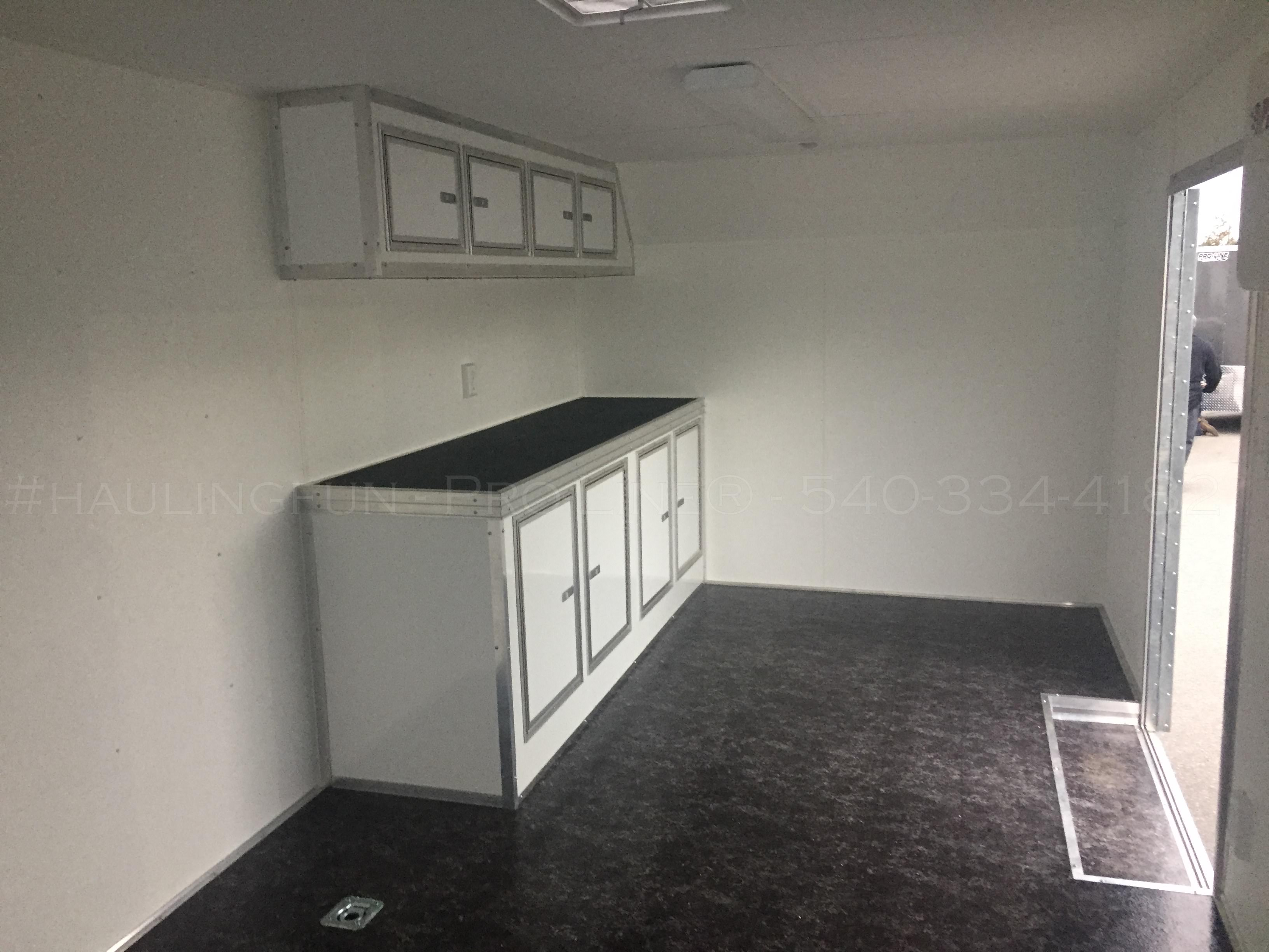28u2032 Race Trailer With Side Cabinets