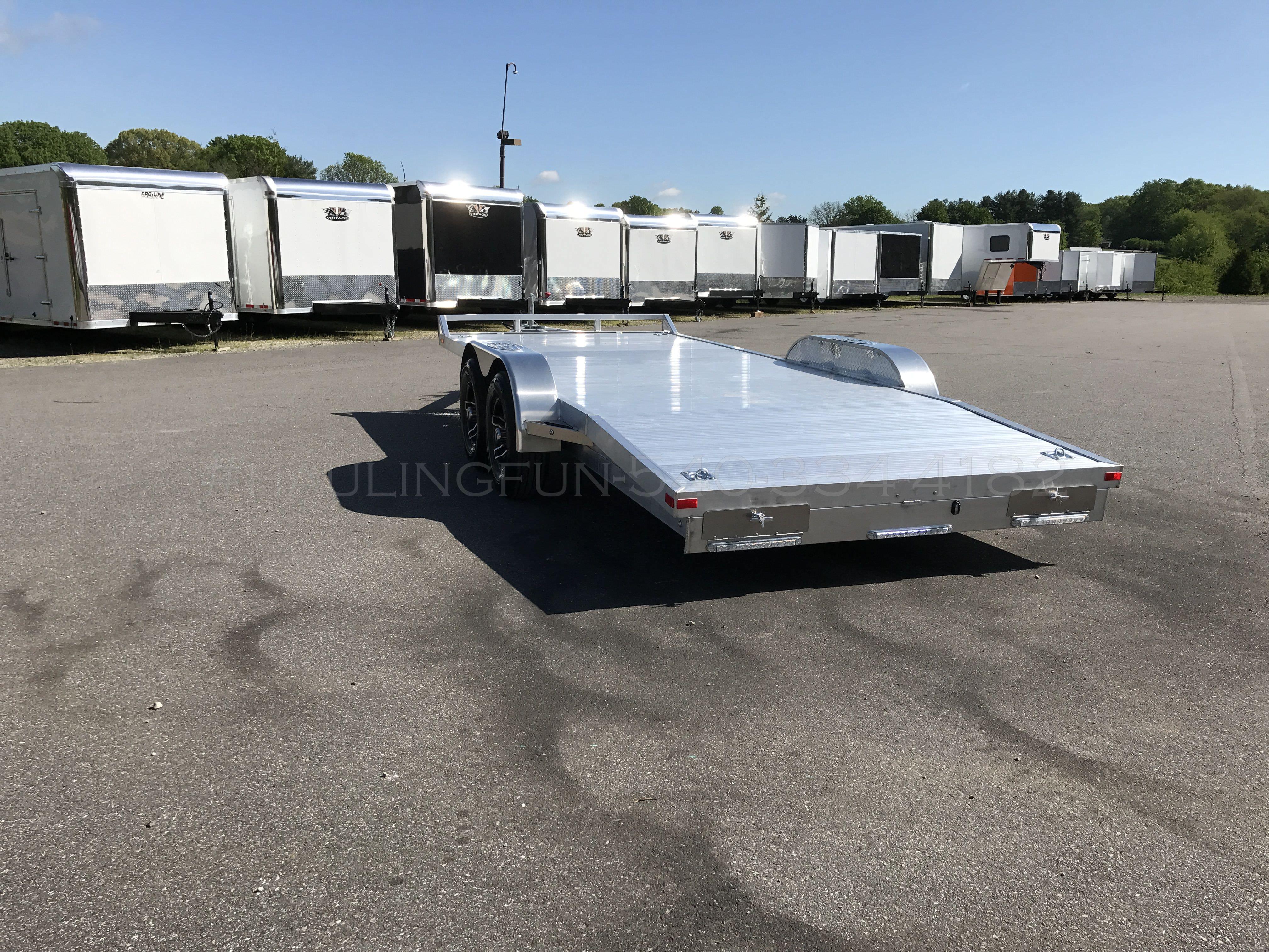 18 Aluminum Car Trailer 10 000 Gvw Pro Line Trailers