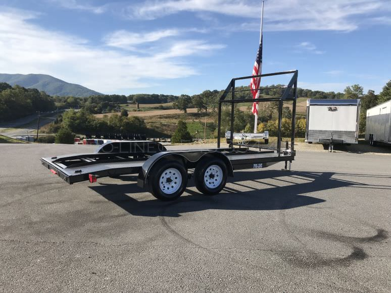 16′ Open Trailer with Tire Rack