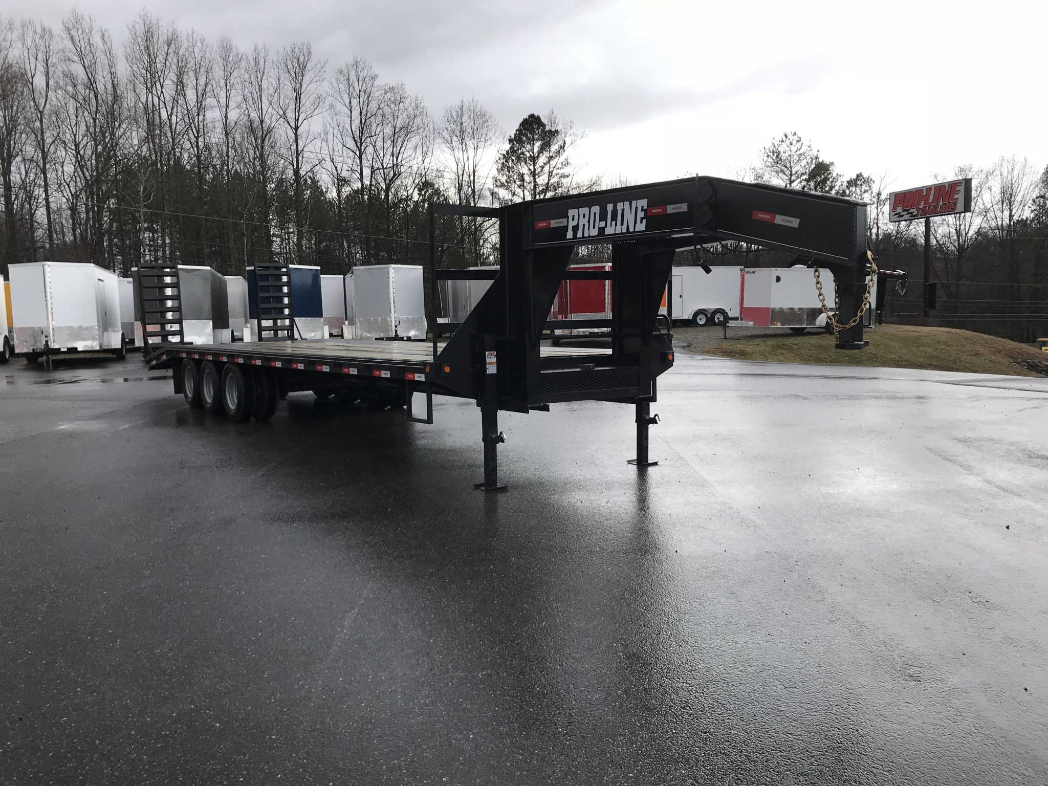 8 5x30 Deluxe Gooseneck Heavy Duty Flatbed Equipment Trailer