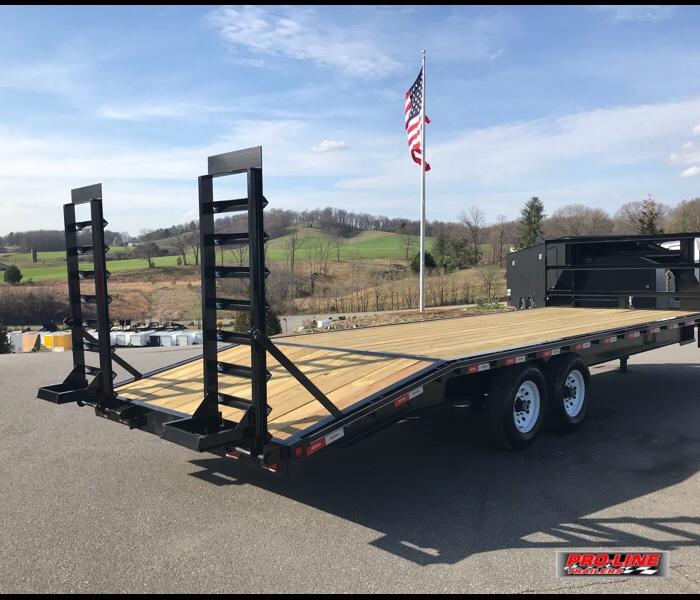 8 5x28 Gooseneck Deck Over Flatbed Equipment Trailer Pro