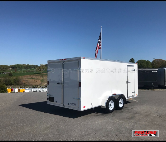 7x16 Enclosed Trailer With V-nose